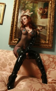 sexy models sexy boots redhead lether hot pasties